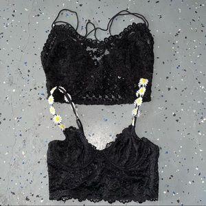 2 lace bras